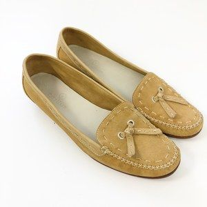 Cole Haan Tan Suede Moccasins Flats size 7 1/2